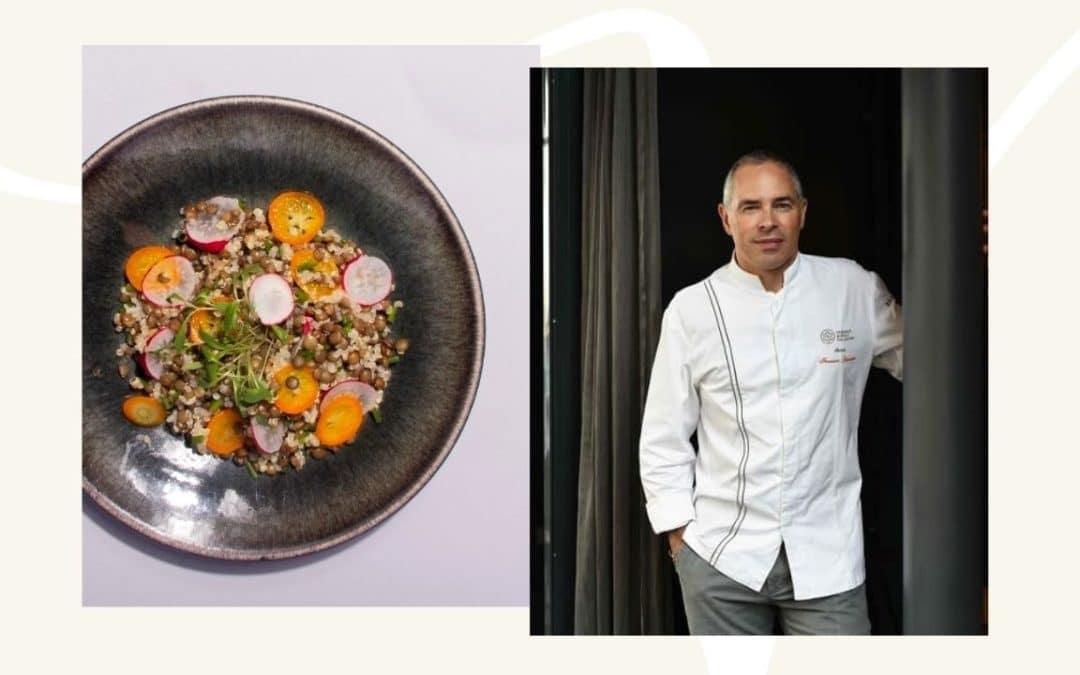La salade de lentilles vertes du Puy, quinoa et kumquats du Chef François Gagnaire